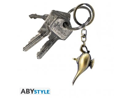 disney keychain 3d aladdin lamp x2