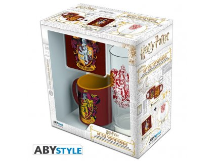harry potter pck glass 29cl coaster mini mug gryffindor