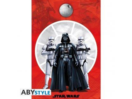 star wars poster darth vader 2 troopers 98x68