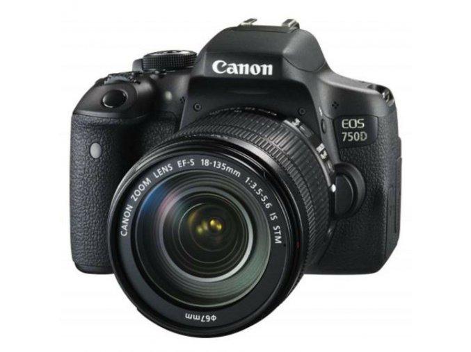 Canon EOS 750D + EF-S 18–135mm IS STM  + VIP SERVIS 3 ROKY + 32GB SD karta zadarmo + puzdro zadarmo
