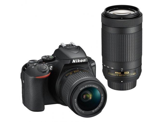 NIKON D5600 + AF P 18 55 VR + 70 300 VR
