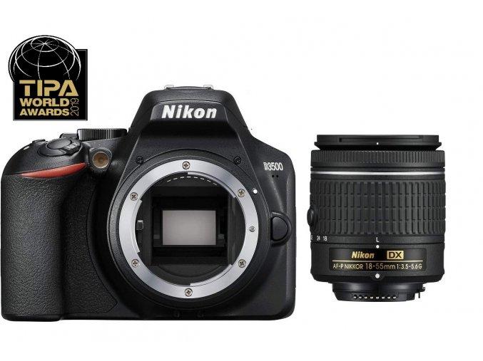 Nikon D3500 + objektív AF-P 18-55mm f/3.5-5.6 G VR  + VIP SERVIS 3 ROKY + 16GB SD karta zadarmo + puzdro zadarmo