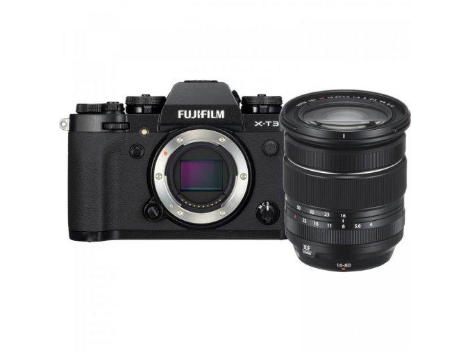 FUJIFILM X T3 Mirrorless Digital Camera with 16 80mm Lens Kit (Black)