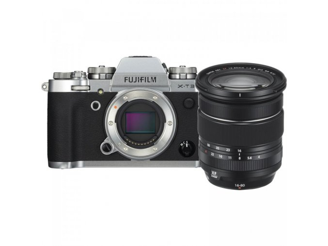FUJIFILM X T3 Mirrorless Digital Camera with 16 80mm Lens Kit (Silver) (1)