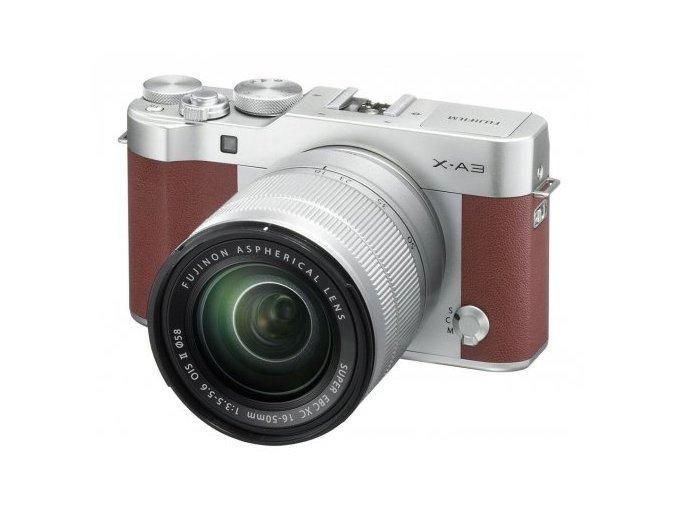 Fujifilm X A3 + XC16 50mm II Hnedý