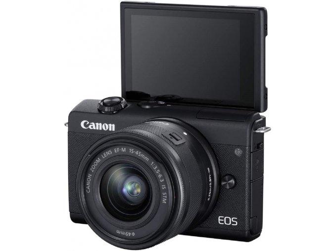 Canon EOS M200 + EF-M15-45mm f/3.5-6.3 IS STM čierny  + VIP SERVIS 3 ROKY + 16GB SD karta zadarmo + puzdro zadarmo