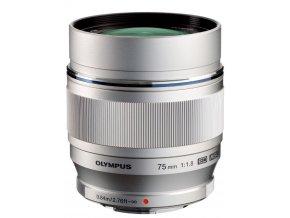 Olympus M.Zuiko Digital 75mm f1,8 ED strieborny