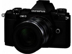 Olympus OM D E M5 Mark II Black Camera with 12 40mm F2.8 Len Pro
