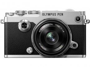 Olympus PEN F + 17mm f1.8 strieborný