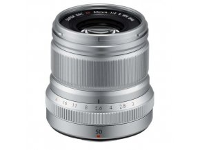 Fujifilm Fijinon XF 50mm f2 R WR strieborný