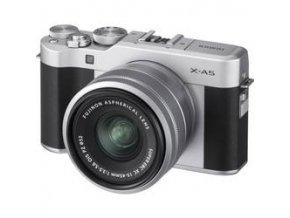 Fujifilm X A5 + XC15 45mm f3.5 5.6 strieborný