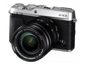 Fujifilm X E3 + XF 18 55mm f2.8 4 R LM OIS strieborný