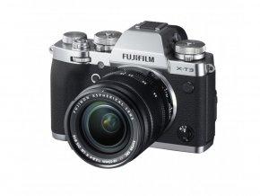 Fujifilm X-T3 strieborný + 18-55mm  + VIP SERVIS 3 ROKY + 64GB SD karta zadarmo + puzdro zadarmo