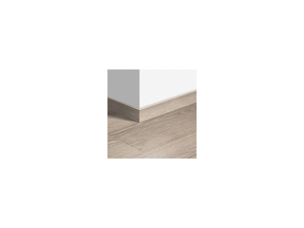 Soklová lišta dřevěná Světlá rustikální dubová prkna