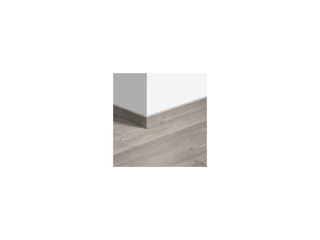 Soklová lišta Kaňonový dub šedý s řezy pilou