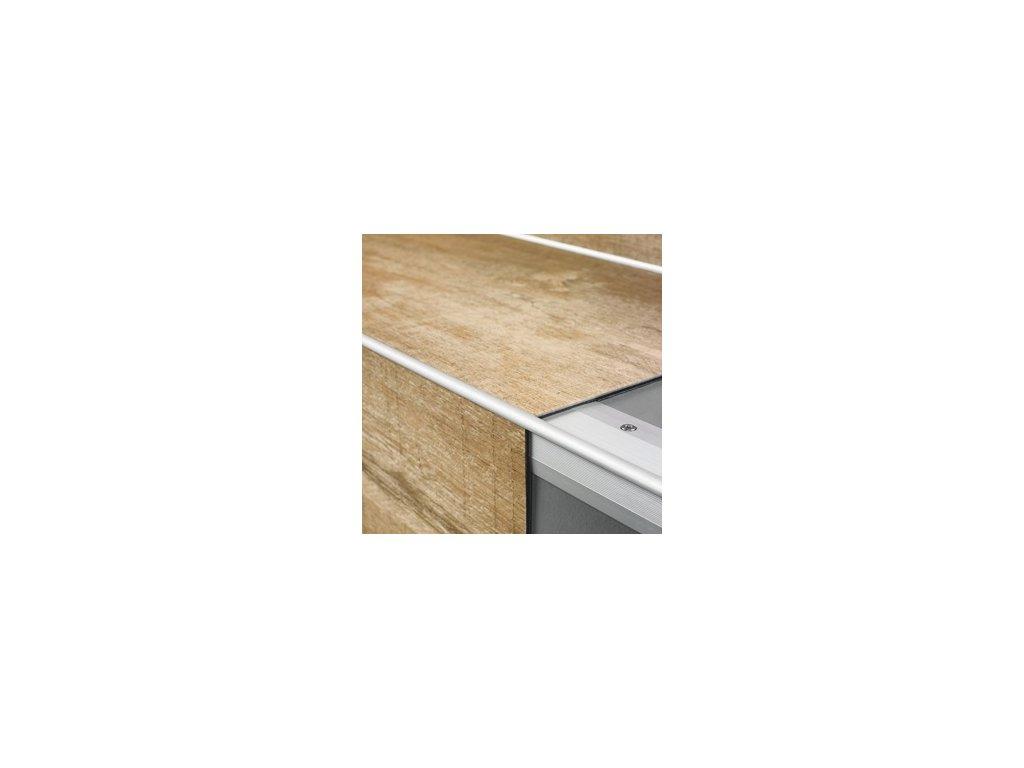 Schodový profil Livin Glue stříbrný vnější 2000 mm