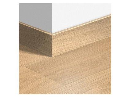 Soklová lišta dřevěná Dubová bílá lakovaná