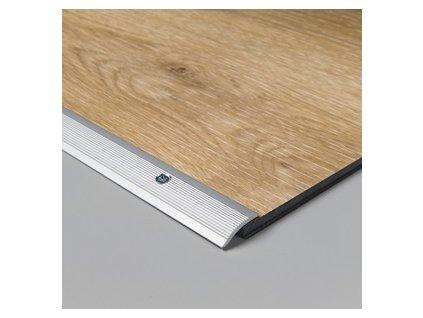 Vyrovnávací profil Click stříbrný 2000 mm, komerční použití