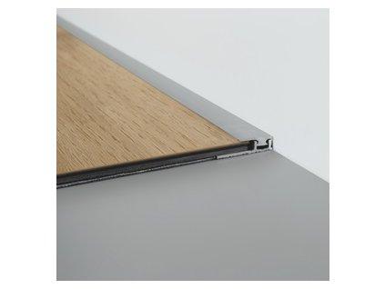 Ukončovací profil Click stříbrný 2000 mm