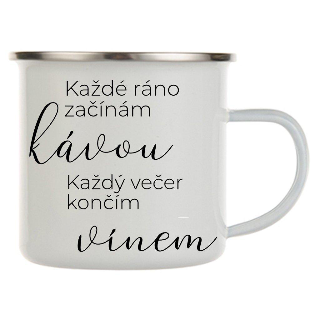každé ráno začínám kávou plecháček
