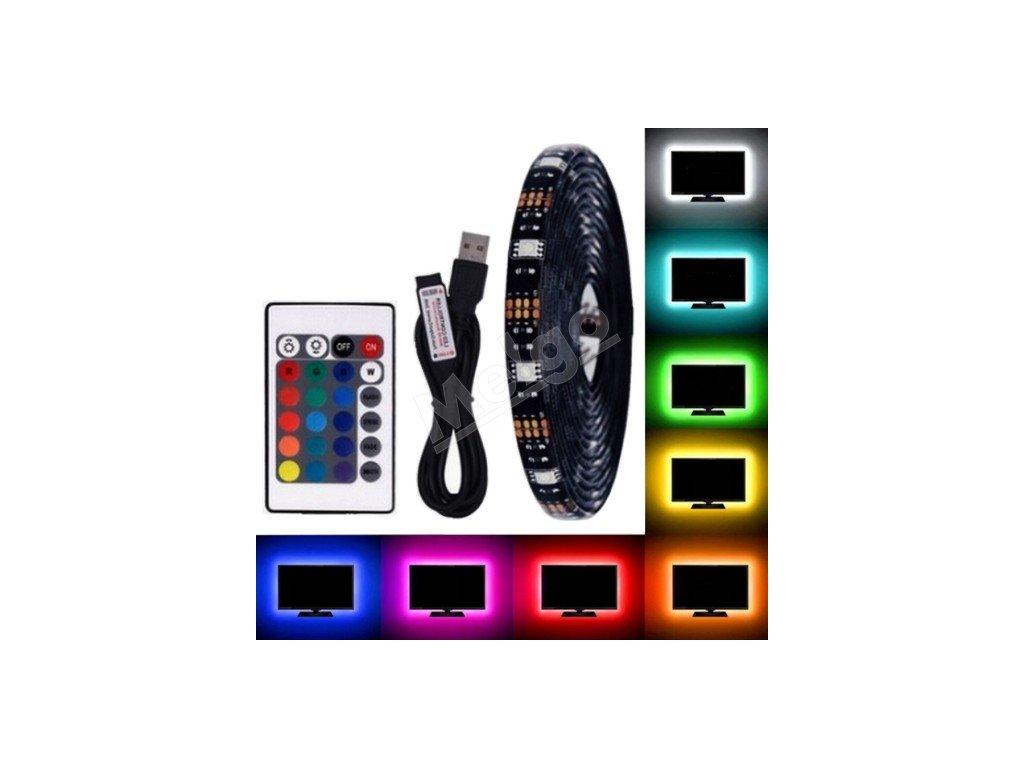LED pás RGB 1m 5V IP65 + diaľkové ovládanie (1)