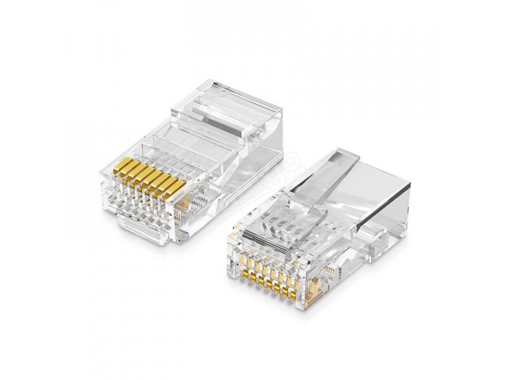 UGREEN Konektor RJ45 Ethernet 8P8C Cat.55e UTP 10ks