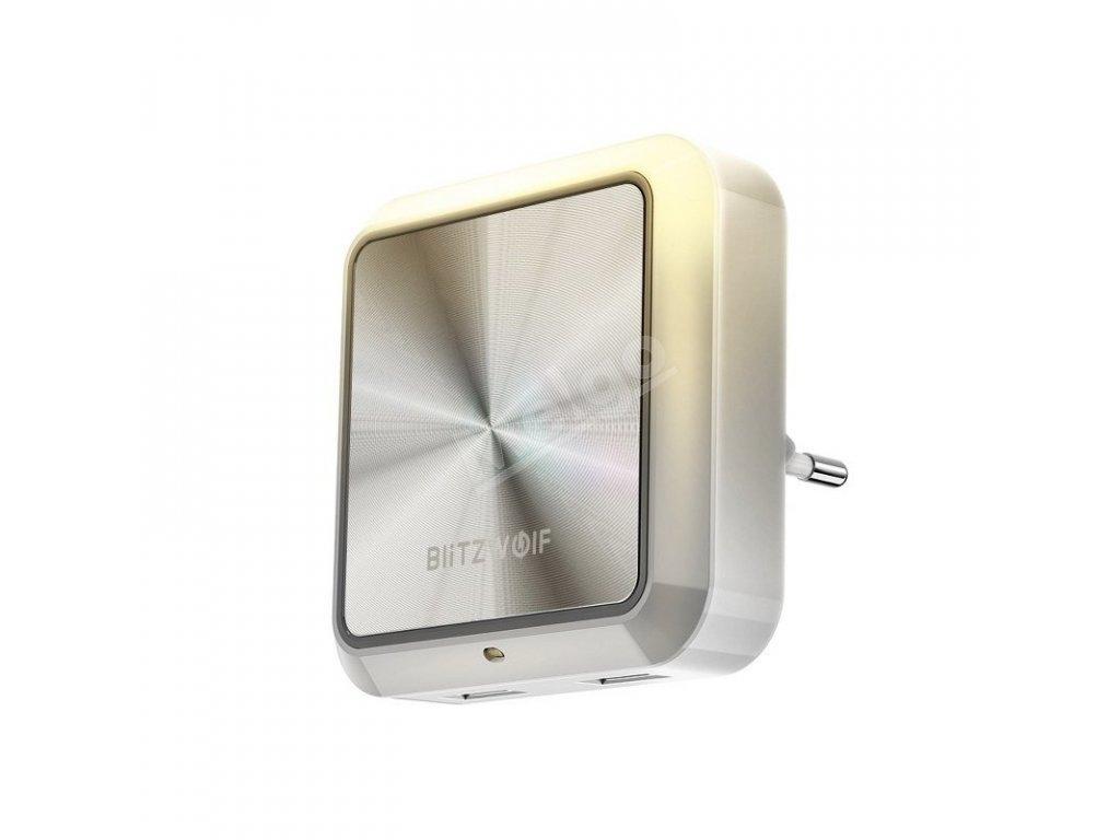 BlitzWolf BW LT14 nočné svetlo s detekciou jasu + 2x USB port (1)