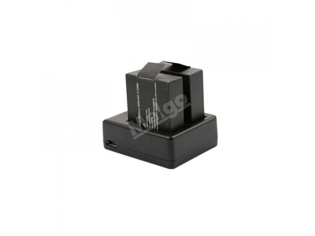 Nabíjačka pre 2 batérie do šport. kamier + 2x batéria 1050mAh (SADA) (1)