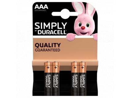 Batérie Duracell Simply AAA LR03 4ks