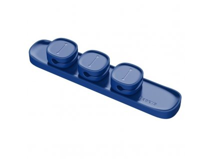 Baseus Magnetický organizer na káble Peas modrá (1)