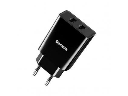 Nabíjačka Speed Mini Dual U 10,5W - Baseus Baseus Speed Mini Dual Charger 2x USB 2A 10 5W czarna 17146 2