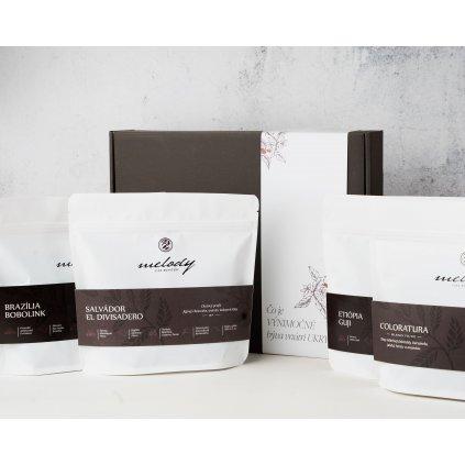 Darčekový balíček výberových káv + pražené mandle zdarma
