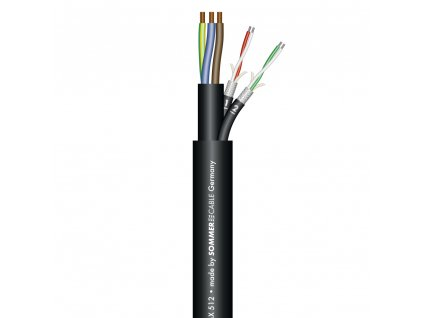 Sommer Cable MONOLITH 2 DMX + 230V 3x2,50mm, Black
