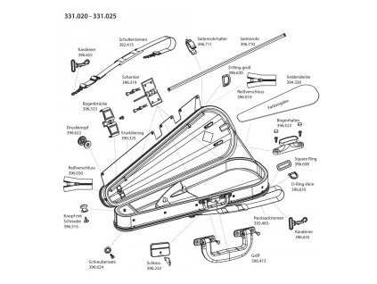GEWA Bow case JAEGER 12 violin bows