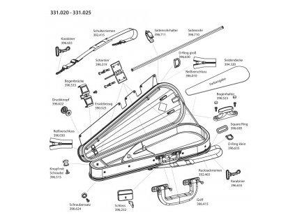 GEWA Bow case JAEGER 24 violin bows w. handle