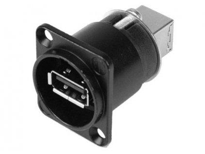 NEUTRIK USB-A <-> USB-B Einbaubuchse /