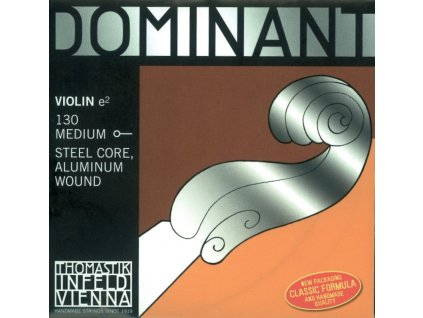 Thomastik Strings For Violin Dominant steel core 130 Medium AL wound