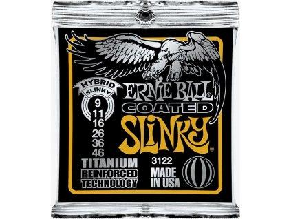 Ernie Ball Coated Slinky Titanium Hybrid.009-.046