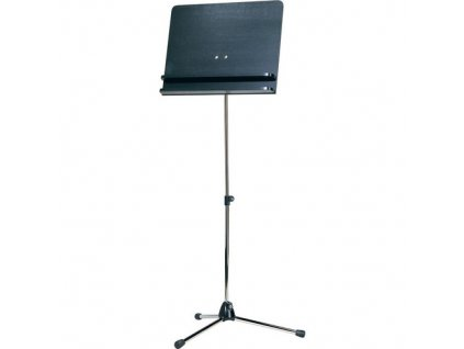 K&M 118/3 Orchestra music stand , nickel stand with black wooden desk