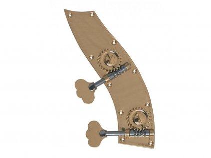 Rubner Bass machine head Tyrolean shape 1/8-1/16 Size 4/4 Cello