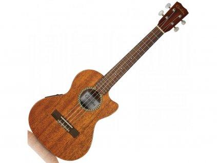 Cordoba 20 tenorové EA-ukulele, mahagon-VD/SD/L/lemy, přírodní mat, struny Aquil