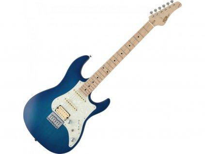 FGN E-Guitar Boundary Odyssey Transparent Blue