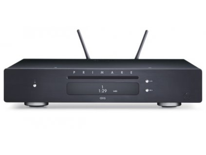 primare cd15 prisma cd and network player front black with antenna 600x297