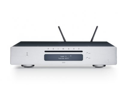 primare cd15 prisma cd and network player front titanium with antenna 600x356