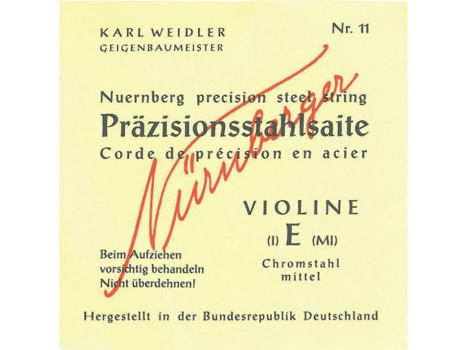 Nurnberger Strings For Violin Kuenstler strand core 1/8