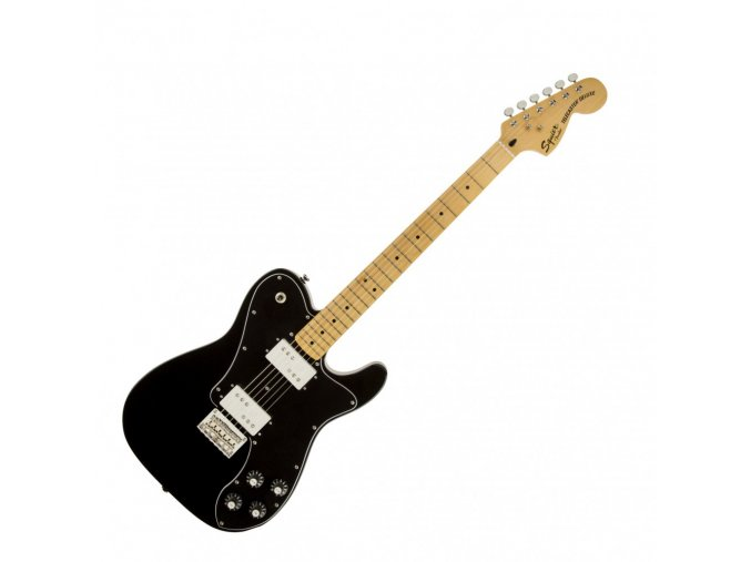 Squier Vintage Modified Telecaster Deluxe, Maple Fingerboard, Black