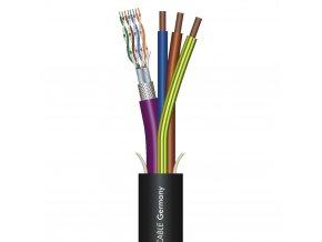 Sommer Cable SC-MONOCAT 110C CAT.7 + 3x2,5Black,PVC