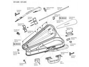 GEWA Bow case JAEGER 6 violin bows