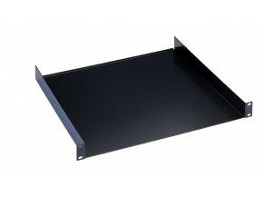 "K&M 28481 19"" Rack shelf black, 1 space, 380 mm, 2,37 kg"