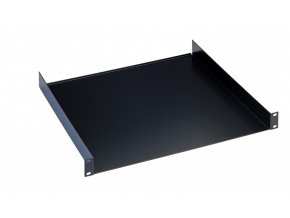 "K&M 28482 19"" Rack shelf black, 2 spaces, 380 mm, 2,79 kg"